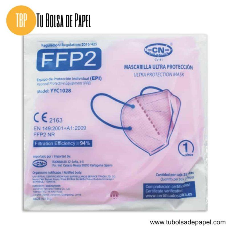 Mascarillas FFP2 Ultra Protección Rosa