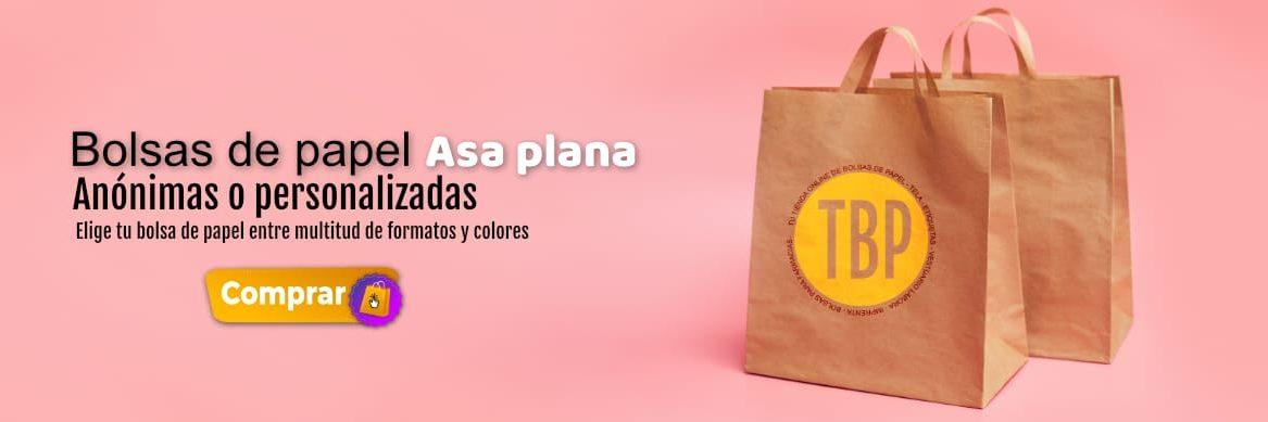 Bolsas de papel con el asa plana