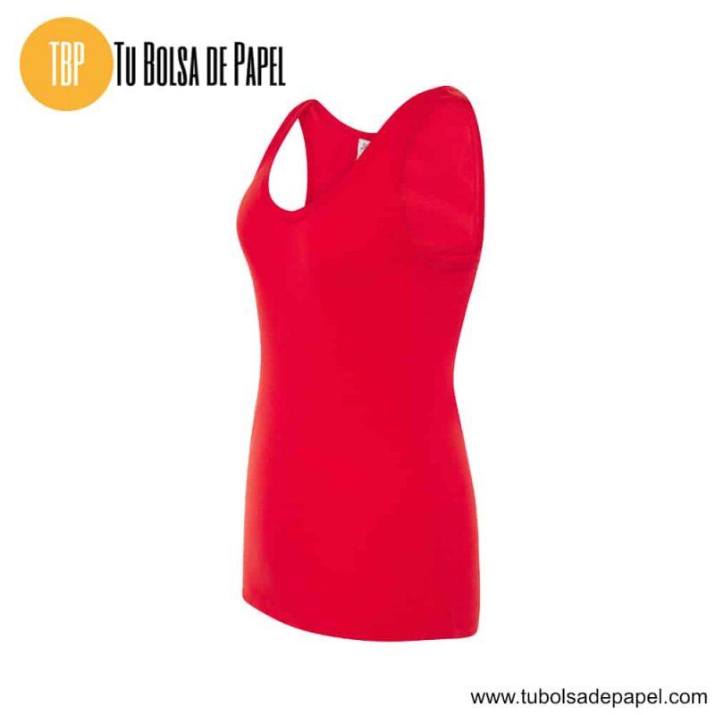 Camiseta de mujer sin mangas Roja