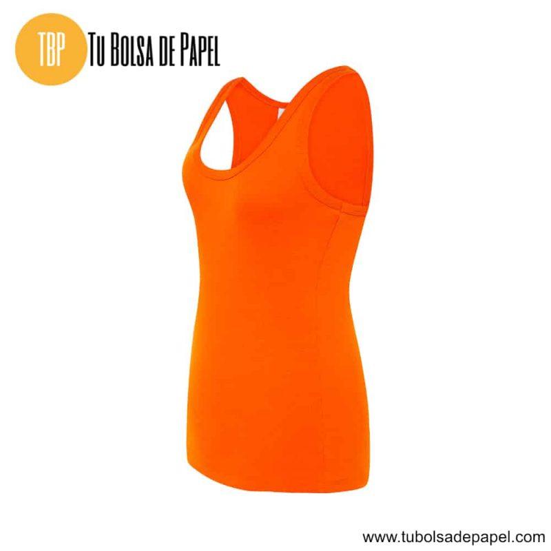 Camiseta de mujer sin mangas naranja