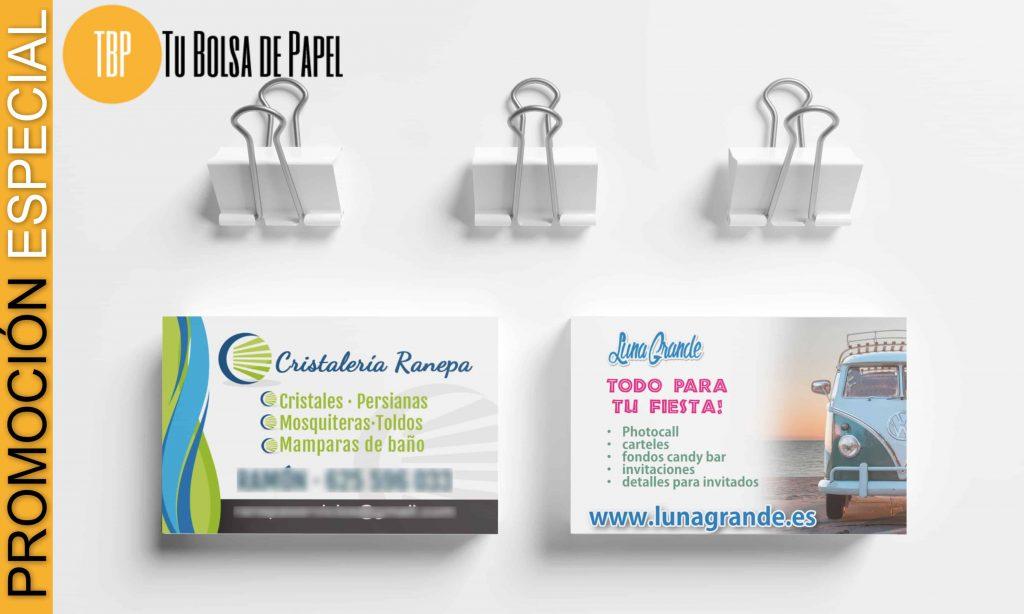 Pomoción especial 1000 tarjetas de visita 22 euro